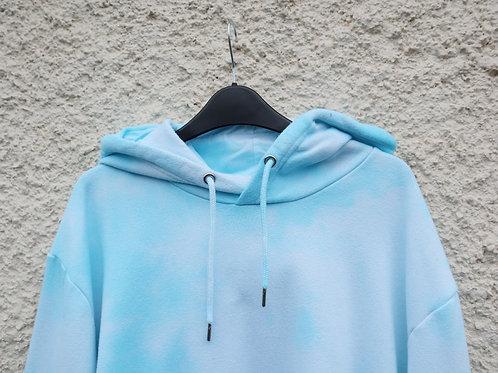 Baby blue tie dye hoodie