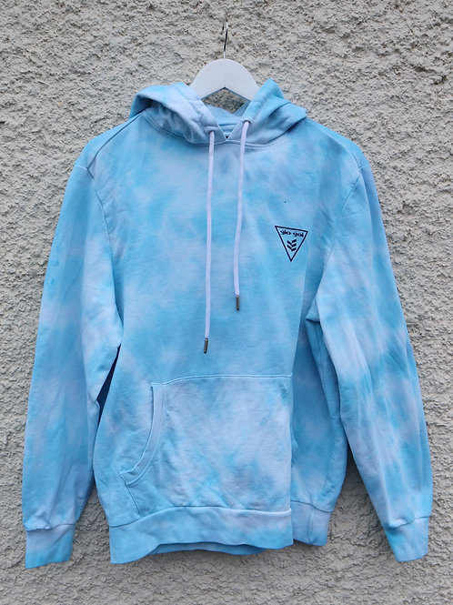 Bright blue 'Goi-Goi' tie dye hoodie