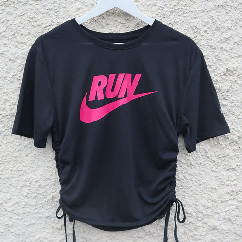 Black and pink Nike ruched tee