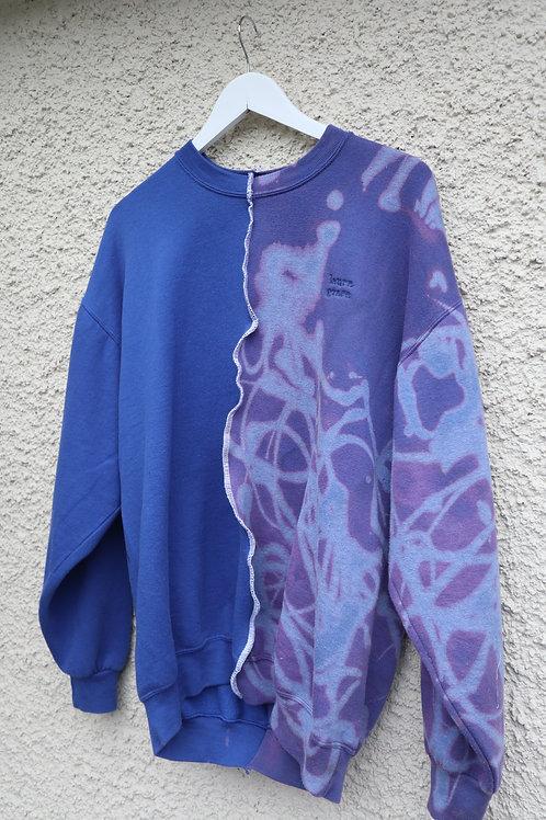 Royal blue half 'n half 'LauraGrace' sweatshirt