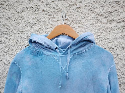 Blue and black tie dye hoodie