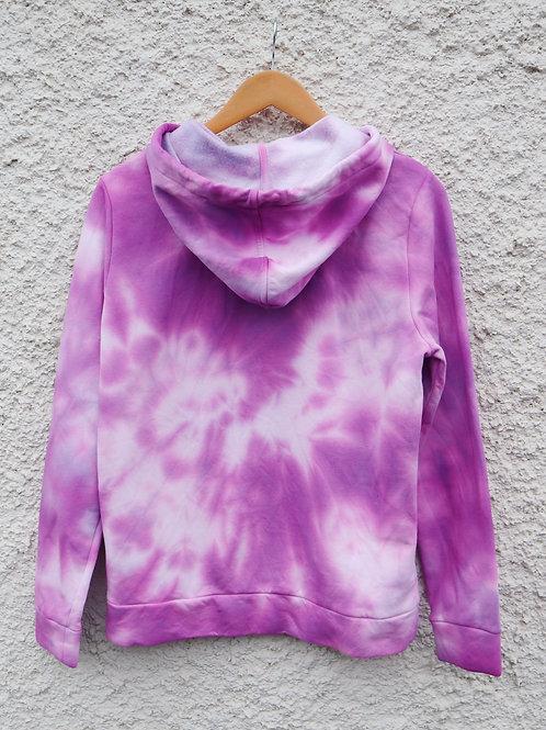 Bright purple tie dyed hoodie