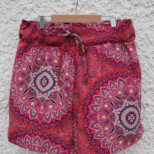 Pink paisley PJ shorts