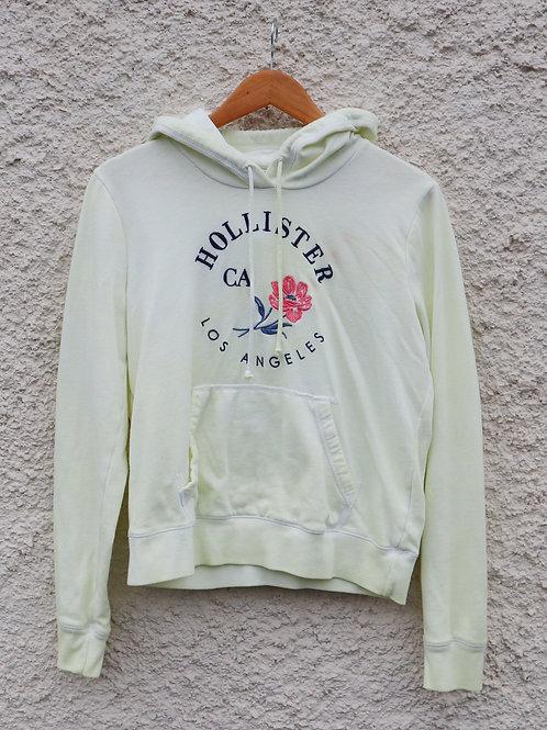 Pastel yellow tie dye Hollister hoodie