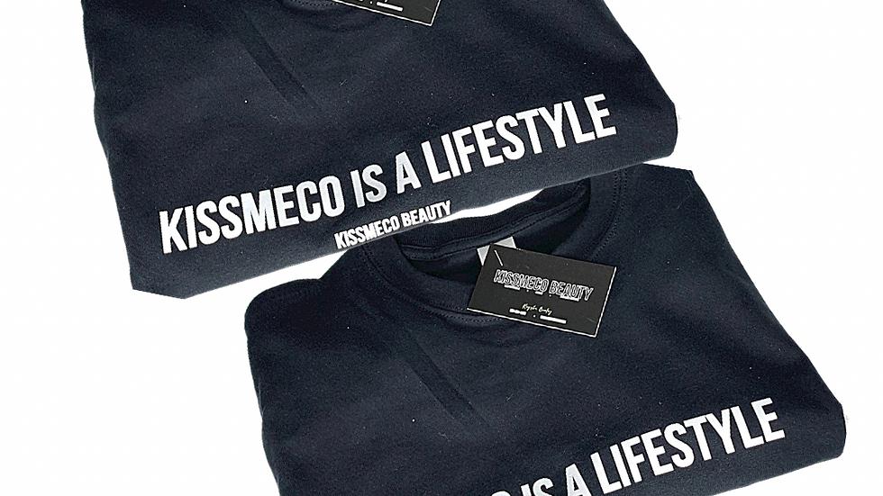 """KISSMECO is a Lifestyle"" Brand Tee"
