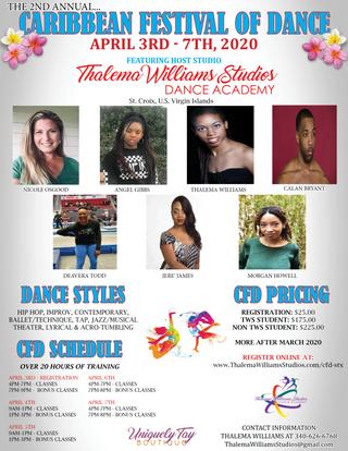 Caribbean Festival of Dance Flyer 2020
