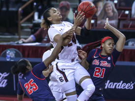 No. 5 South Carolina finishes home schedule with a win
