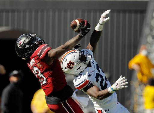 Horn's Big Day Leads Gamecock Football to Upset over #15 Auburn