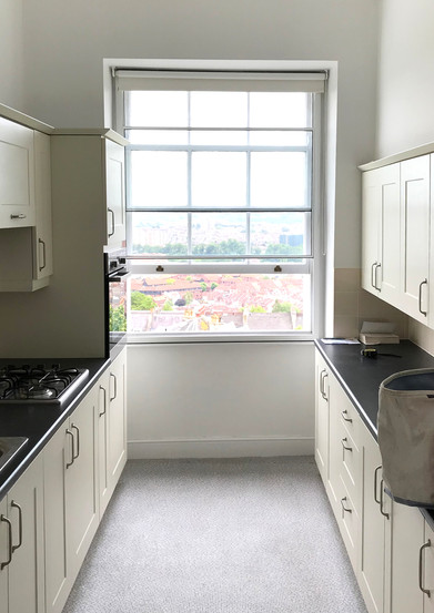 Period Clifton property kitchen before