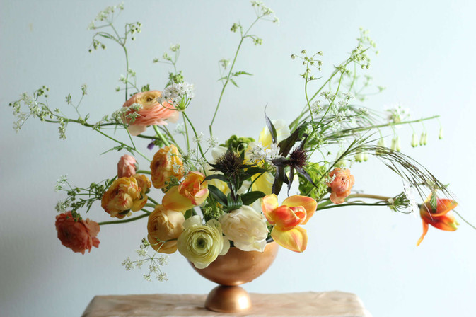 Wildly Beautiful Flowers ranunculus table decoration