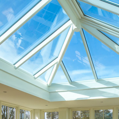 Orangery conservatory glass roof