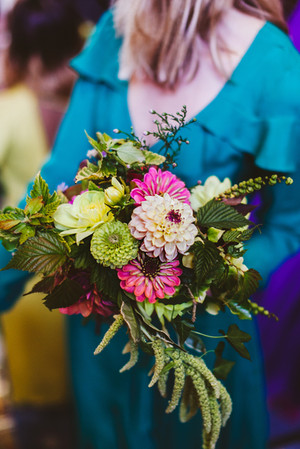 Wildly Beautiful Flowers Bridesmaid's bouquet