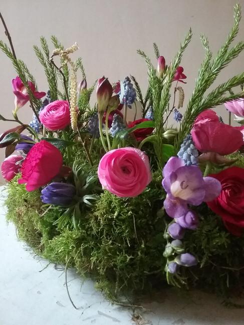 Wildly Beautiful flowers seasonal Spring flowers funeral tribute