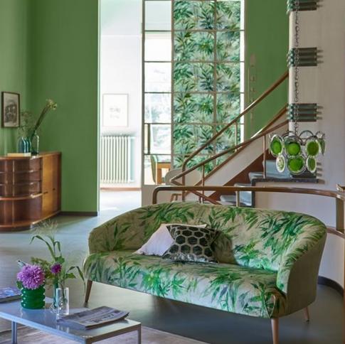 Designers Guild green living room