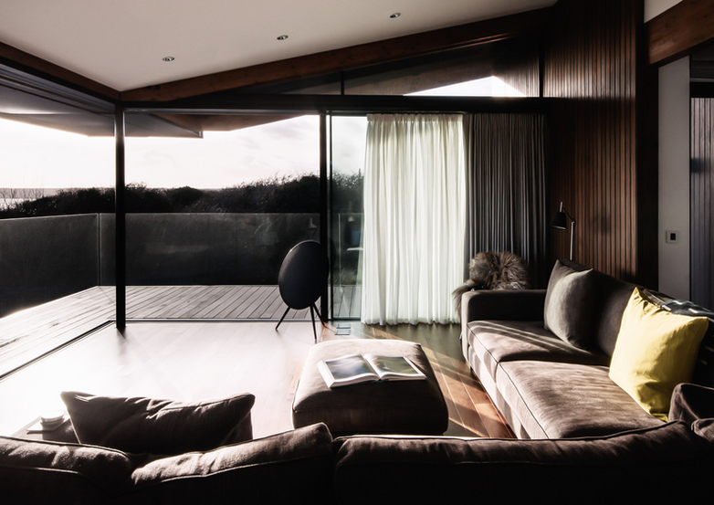 Silver House living room with sea views