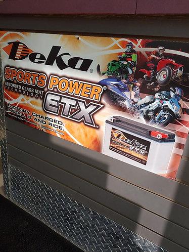 Deka ETX AGM powersport batteries