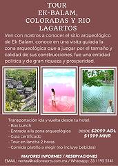 eFlyer EK BALAM - LAS COLORADAS - RIO LA