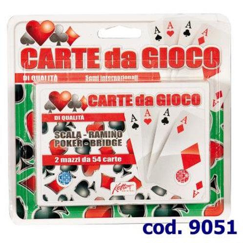 CARTE DA GIOCO 2 MAZZI 9051