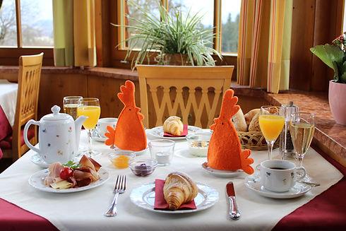 Frühstück im Alpenhotel Hundsreitlehen bei Berchtesgaden