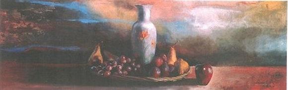 Purple Vase & Fruit