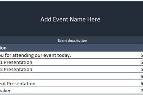 Meeting and Event Schedule