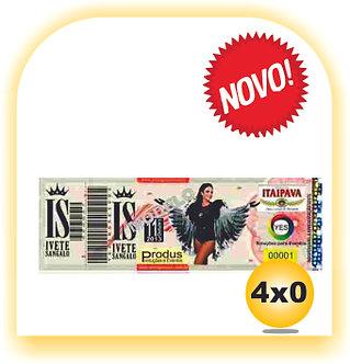 INGRESSO DE SEGURANÇA  Com Picote Tam:15x55 4x0 • 500 Unid.