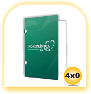 Pasta COUCHÊ FOSCO COM ORELHA 4x0 1000 Unid