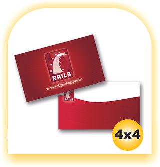 Cartão de Visita 300gr 4x4 1000 unid