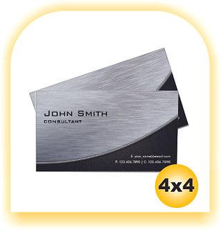Cartão Silver Master 4x4 100 unid