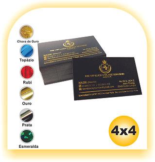 Cartão Hot Stamping 4x4 1000 unid