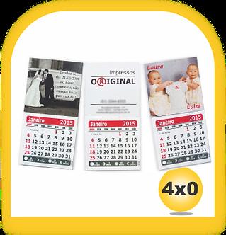 ÍMÃ DE GELADEIRA • Cores:4x0 Calendario 1000 unid