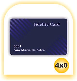 Cartão Fidelidade PVC 4x0 10 unid