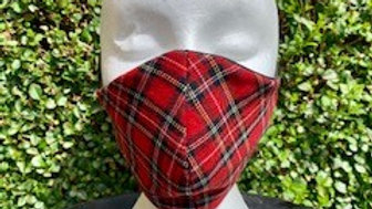 Polyviscose Royal Stewart Face Mask