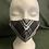 Thumbnail: Black & White Silk Tartan face mask