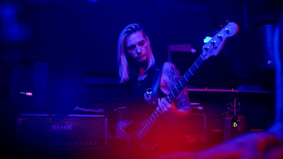 Danielle Lazar Jams a Bass Riff