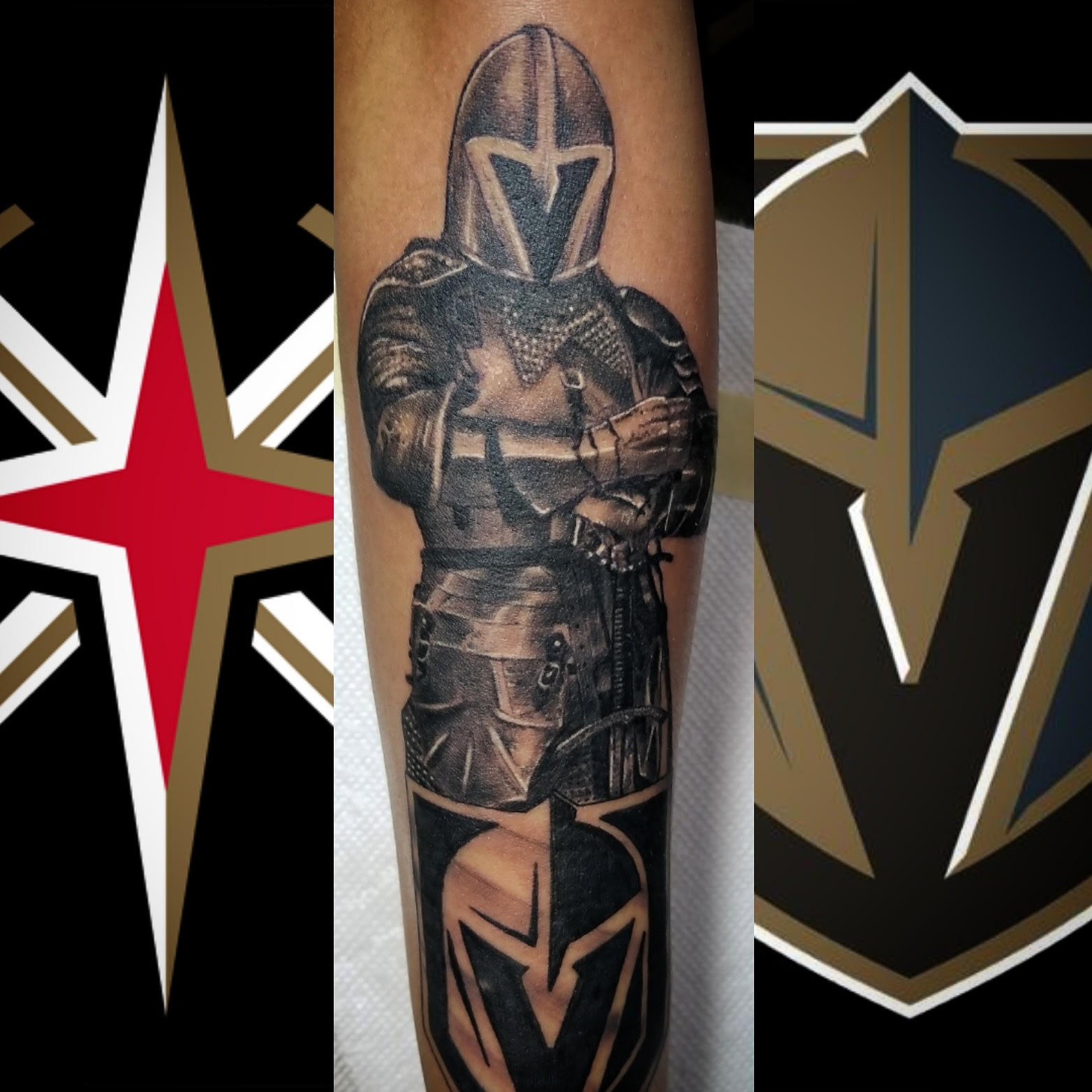 Golden Knights Tattoo by Eric