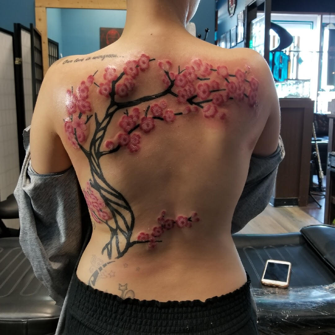 Cherry Blossom Tree by Eric Chandler