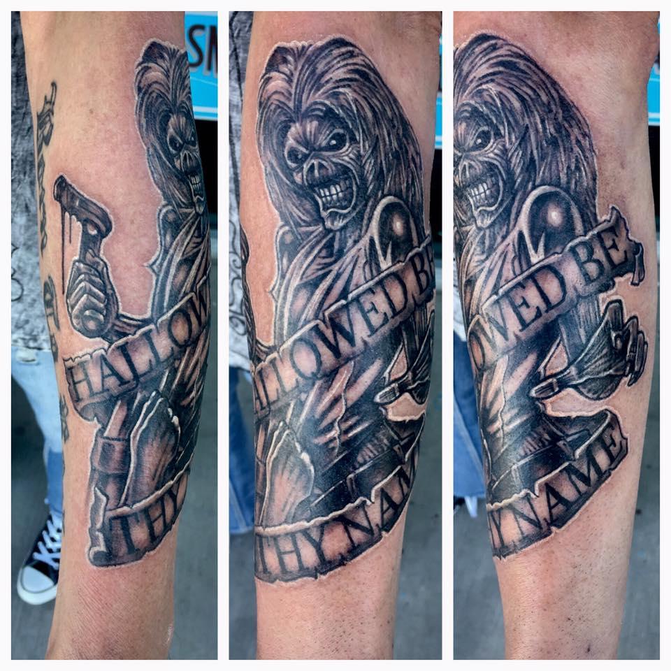Eddie Iron Maiden tattoo by Krystof