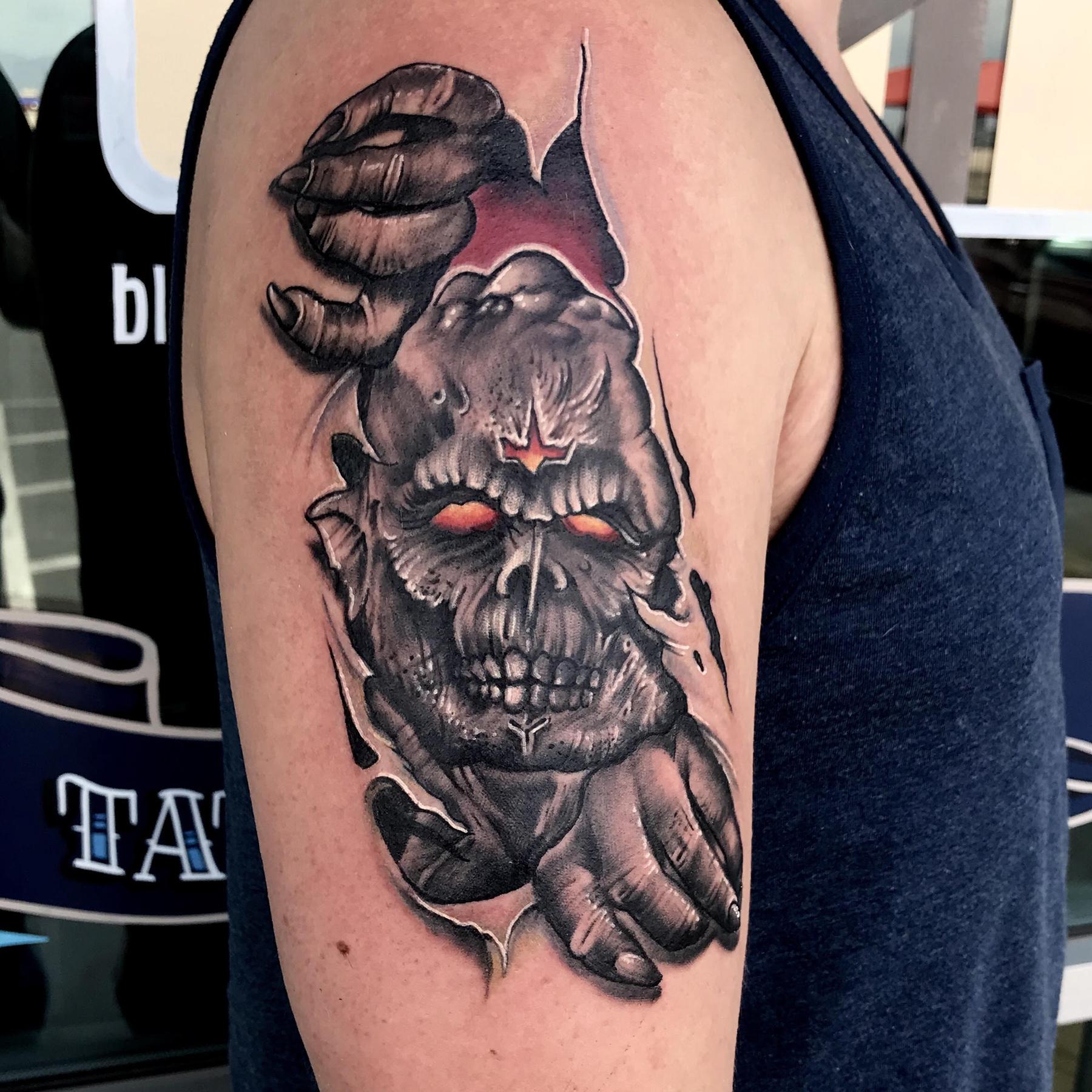 Midnight Creeper Tattoo by Krystof