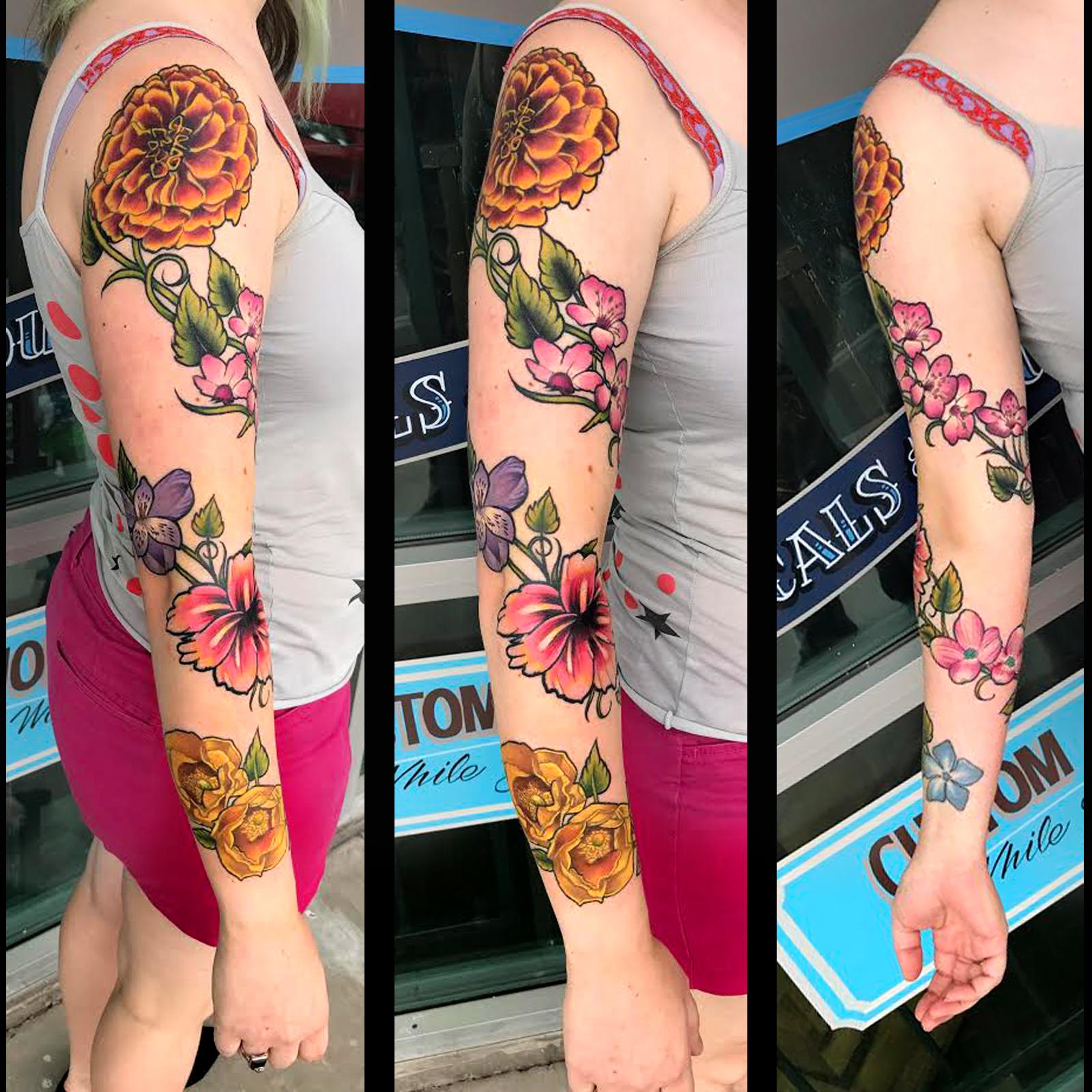 Floral Sleeve by Krystof