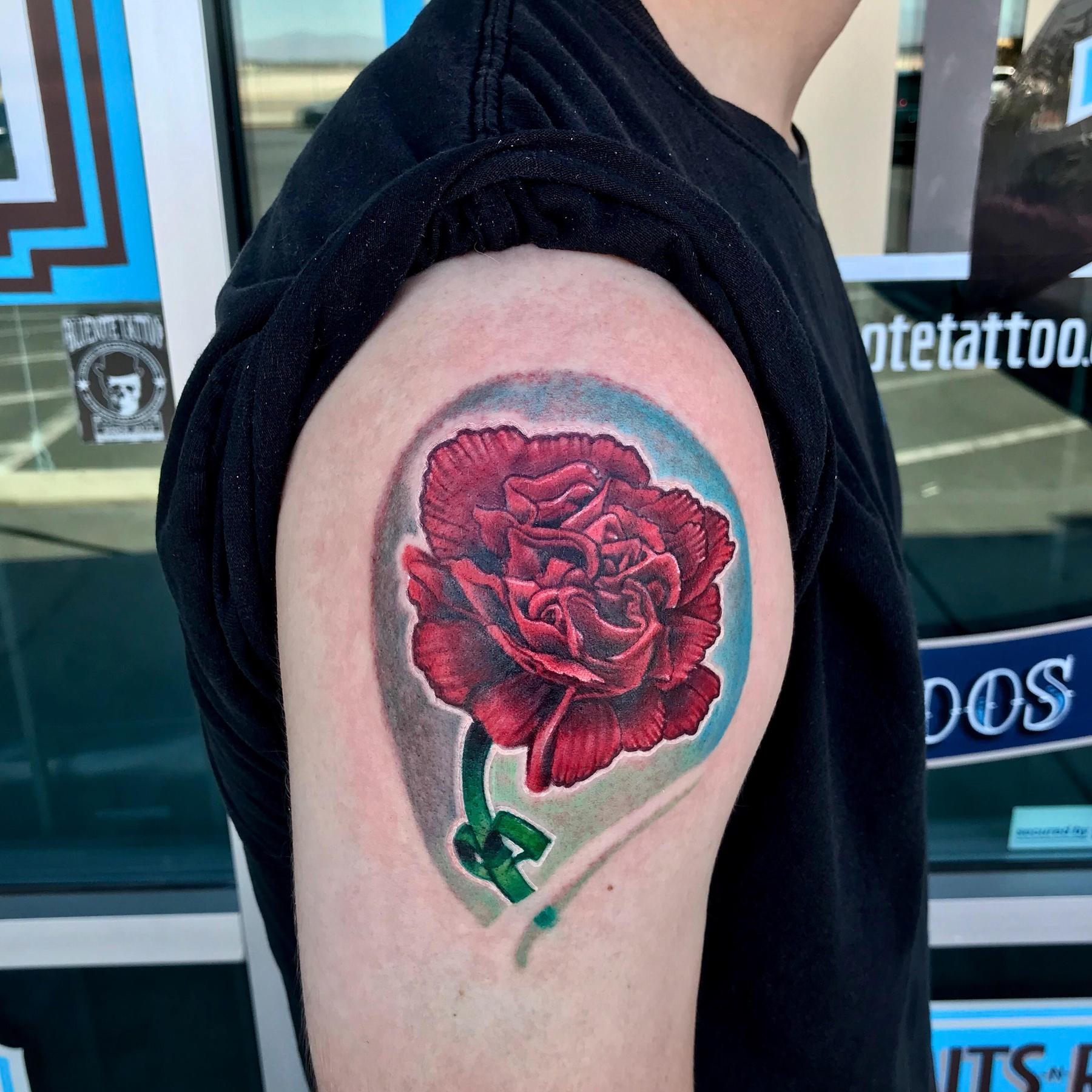 Carnation Tattoo by Krystof