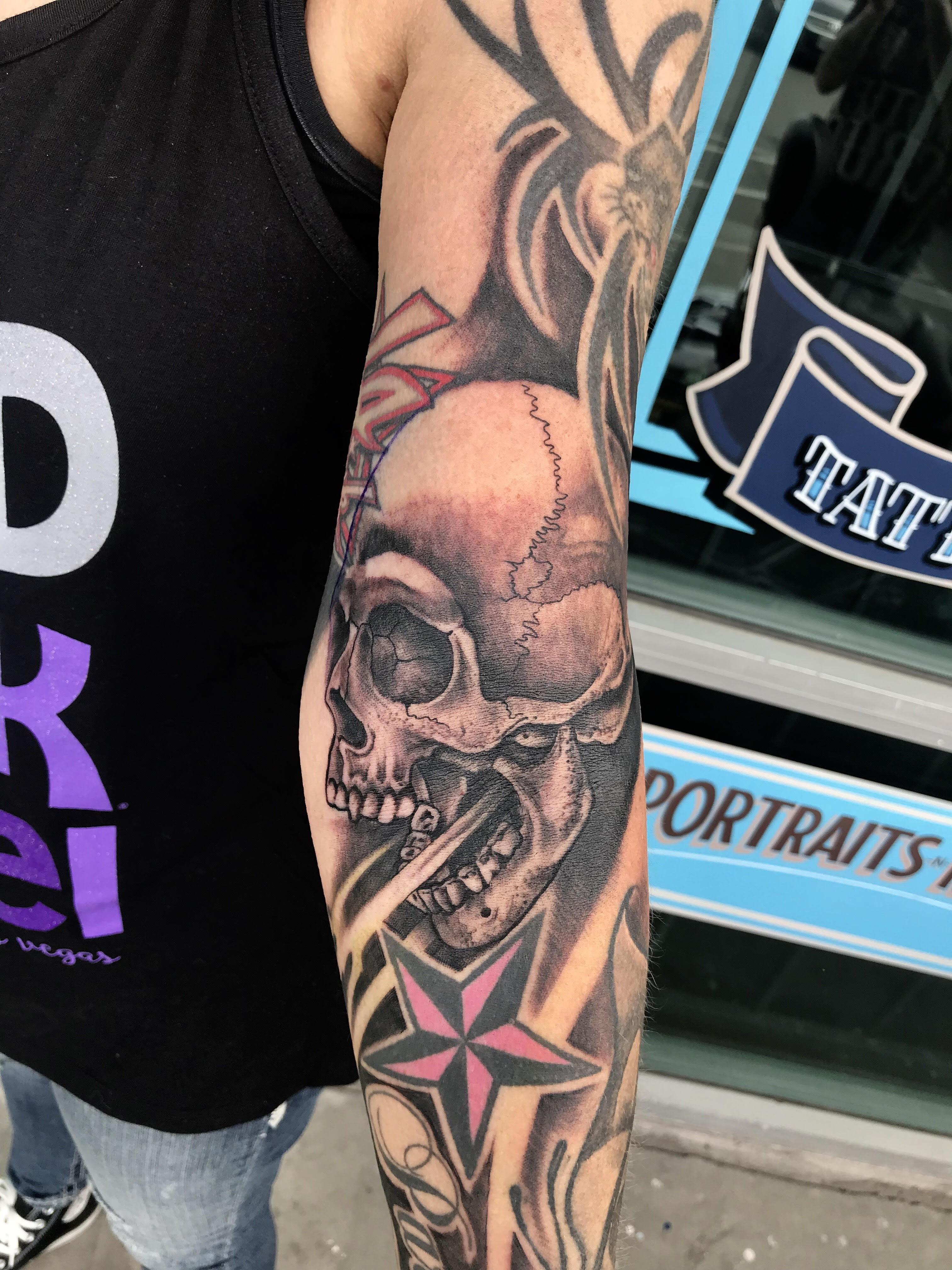 Skull Tattoo by Krystof