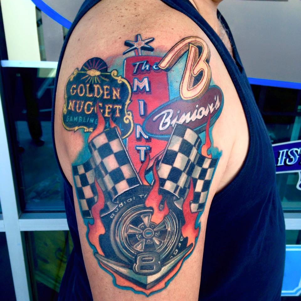 Vegas Hot Rodding Tattoo
