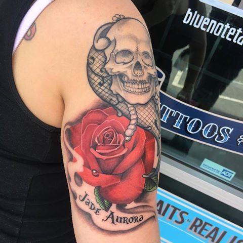 Realistic Rose Tattoo by Krystof