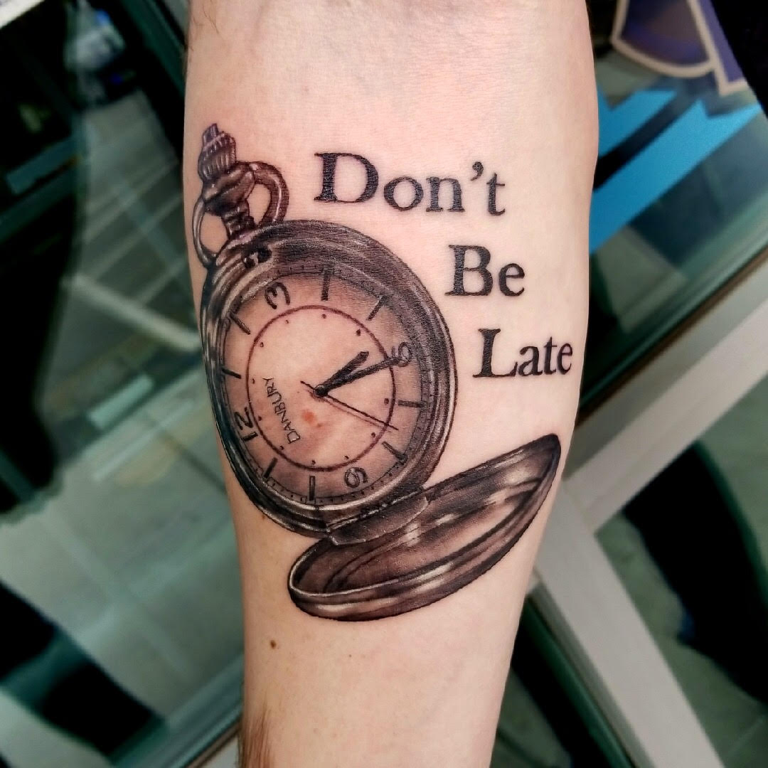 Pocket Watch Tattoo by Eric
