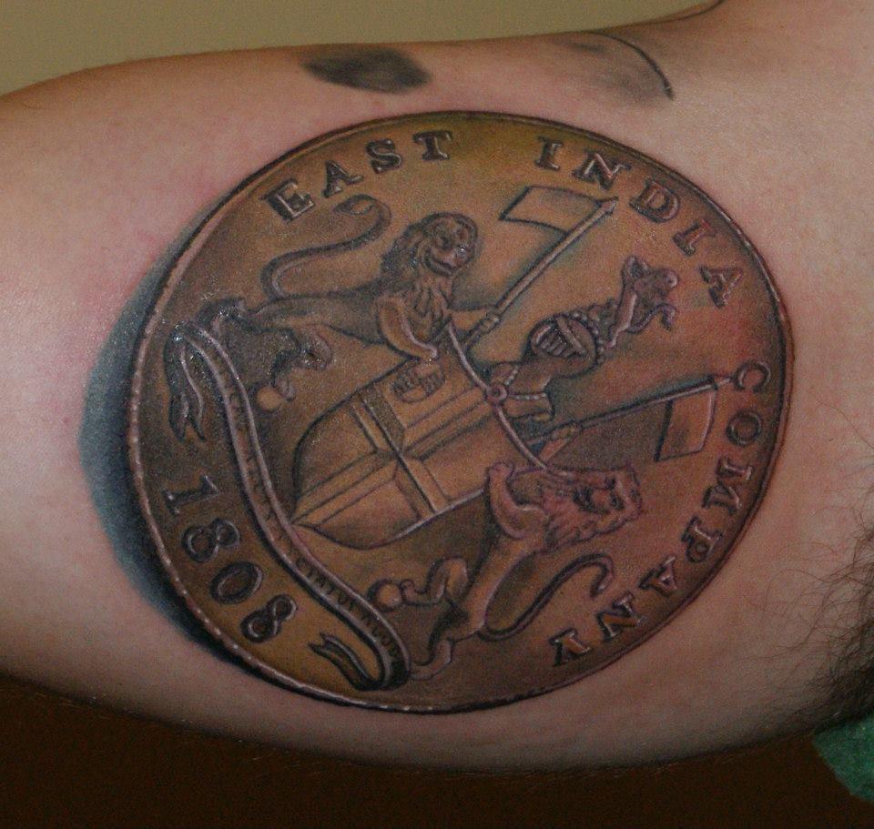 Lucky Coin Tattoo
