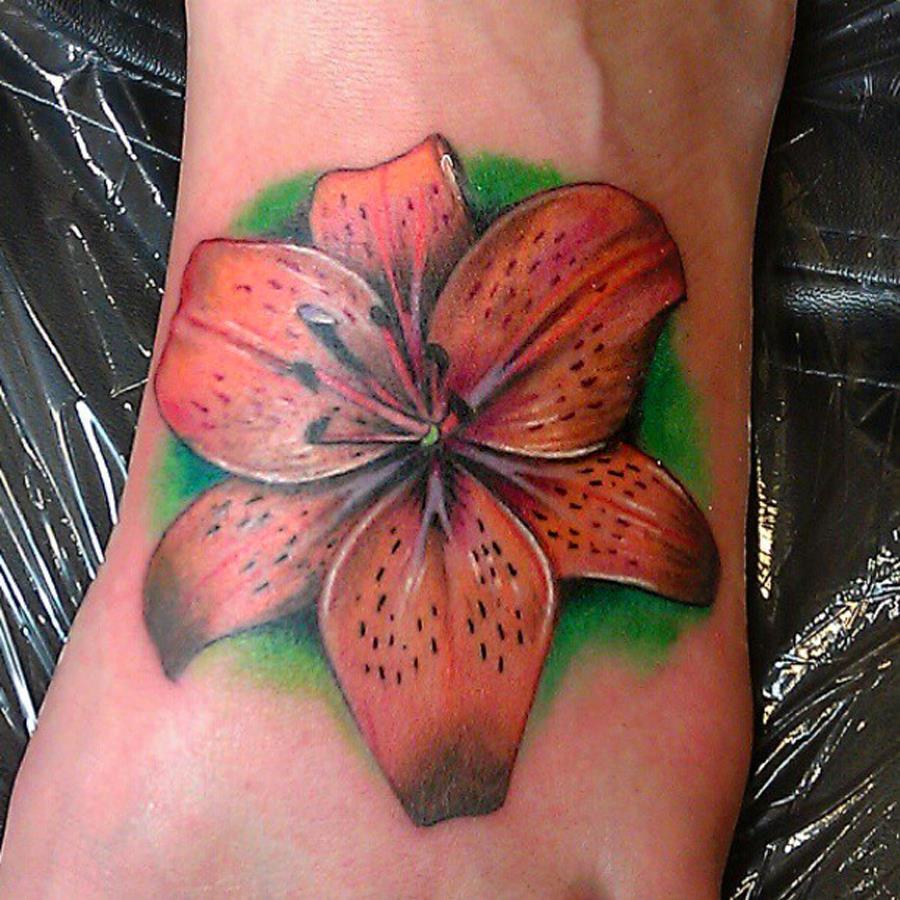 Lily Foot Tattoo