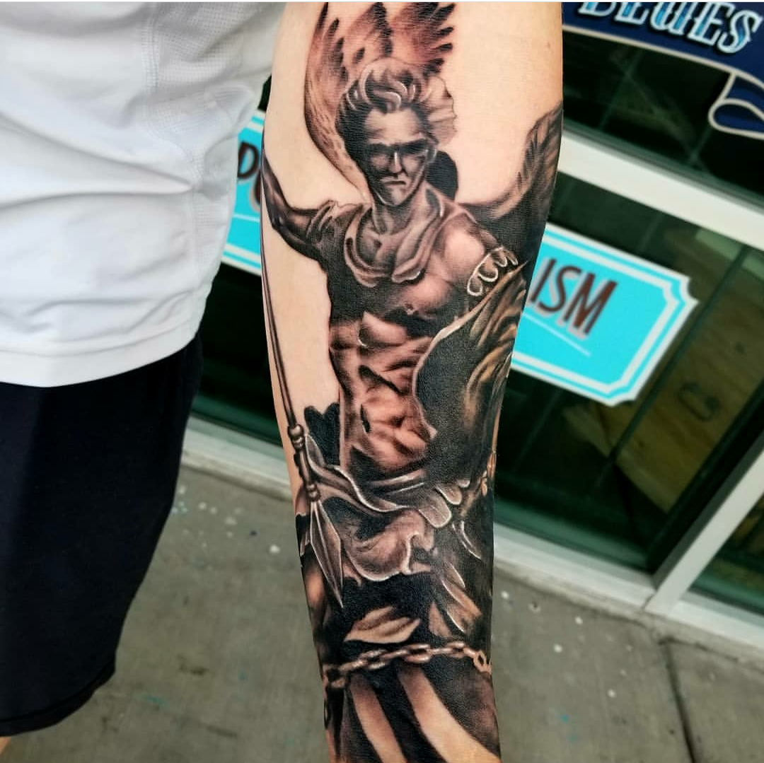 St Michael Tattoo by Eric Chandler