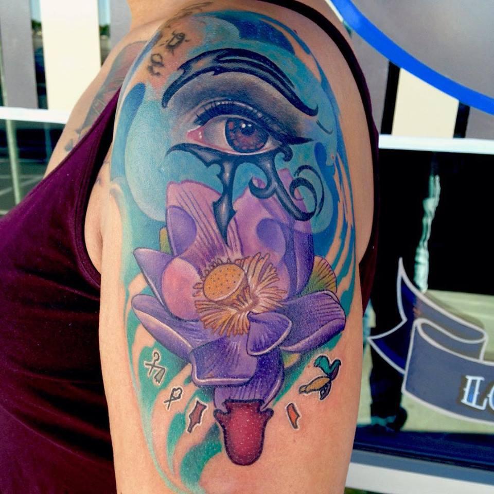 Lotus Eye Tattoo