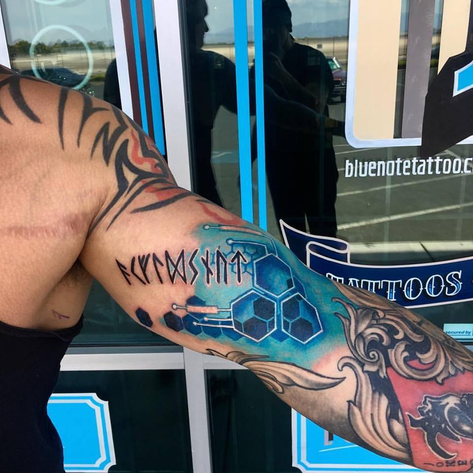 Tech-Runes Tattoo by Krystof